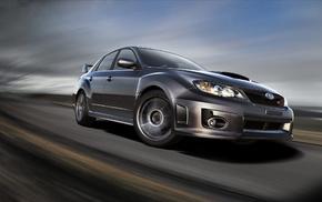 speed, cars, road, Subaru