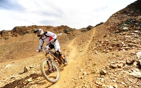 mountain, bike, sports