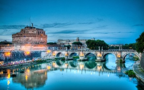 cities, bridge, Italy