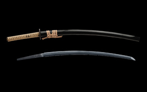 gun, samurai, katana, Japan, sword