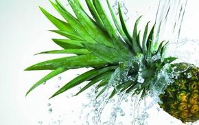 pineapple, fruit, Ананас, макро, фрукт, вода