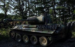 forest, tank, gun