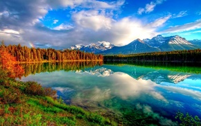 sky, lake, nature, mountain