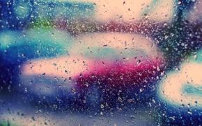 rain, wallpaper, drops, colors, macro
