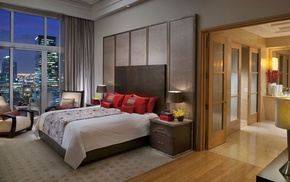 bed, interior, apartment, house