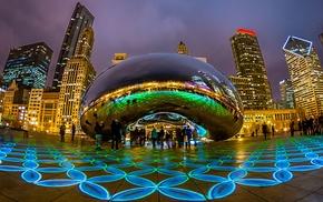 Chicago, skyscrapers, cities