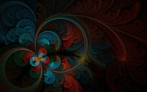 drawing, colors, 3D, abstraction, feathers