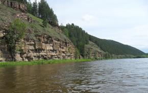 Река, природа, скала.