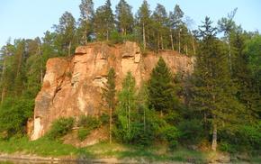 природа, Река, скала.