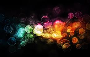 bokeh, 3D, paints, light, patterns