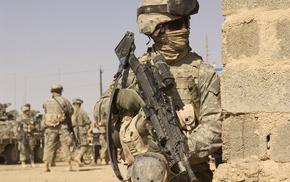 gun, army, soldier, war