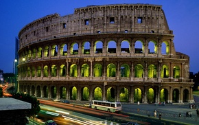 Рим, Колизей, города, Италия