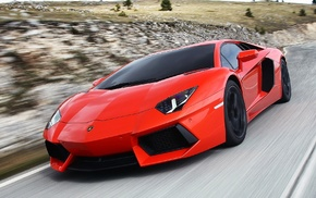road, photo, cars, Lamborghini Aventador, speed