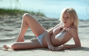 girls, bead, girl, blonde, swimwear