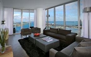 city, apartment, bridge, room, interior