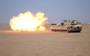 tank, gun, desert