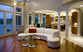couch, style, room, design, apartment