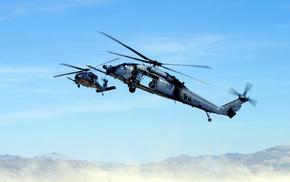 helicopter, aircraft, machine gun