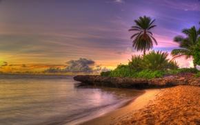 Природа, небо, закат, пейзаж, пляж, восход солнца