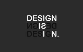 minimalism, typography, simple background, monochrome