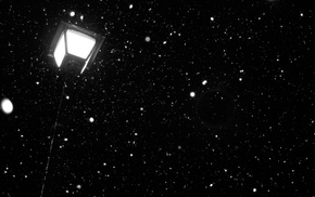 фонарь, темно, красивые, snow, снег, Ночь
