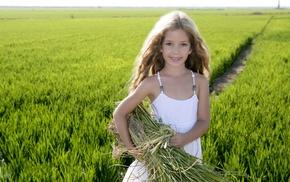 children, girlie, field