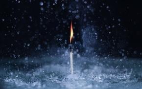 water, macro, fire