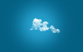 простой фон, минимализм, облака