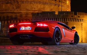 красный, lp700-4, aventador, ламборгини, авентадор, автомобили