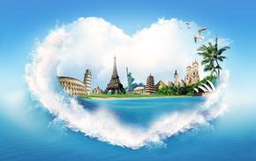 heart, sea, creative, splash, stunner