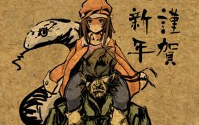 Monogatari Series, Metal Gear Solid, anime, Sengoku Nadeko, Big Boss, snake