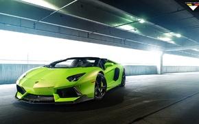 Lamborghini Aventador, Lamborghini, car, green cars