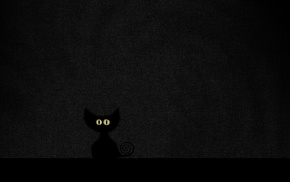 Vladstudio, cat, minimalism, black cats