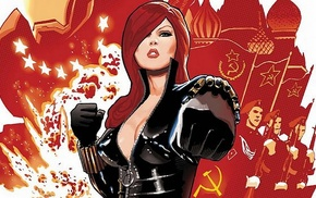Black Widow, comics, explosion