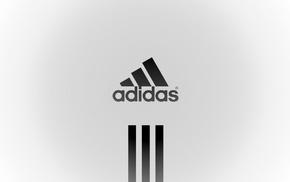 brand, white background, logo, Adidas, sports, minimalism