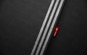 black background, minimalism, Adidas