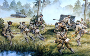 war, tank, gun