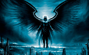 фэнтези, тёмный, Ангел