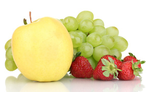 delicious, fruit, berries, grapes