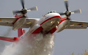 Пожарный, двигатели, самолёт, авиация, винты, крылья