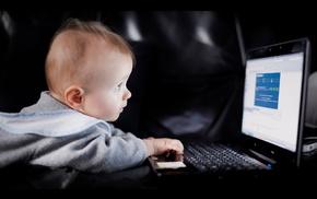 computer, children, mood, boy