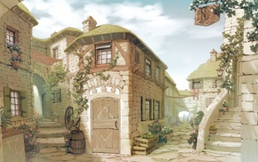 stunner, drawing, houses