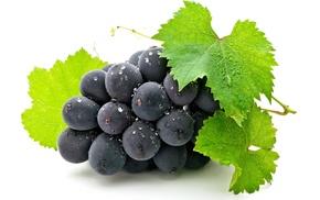ягода, белый фон, вкусно, гроздь, Виноград, grapes