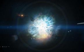 космос, пространство, звезды, кометы, взрыв, Катастрофа