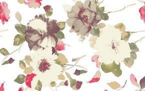 background, paints, flowers
