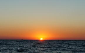закат, море, солнце, природа