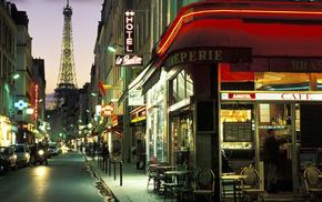 Париж, улочка, france, вечер, города, paris wallpapers