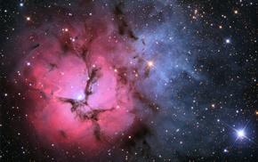 ngc 6514, m20, космос, Тройная туманность, nebula, туманность