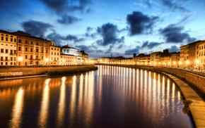Italy, night, cities