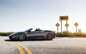 supercar, Ferrari, cars, gray